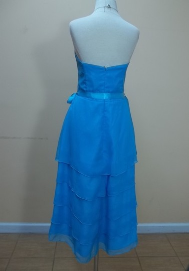 Impression Bridal Turquoise Chiffon 1638 Formal Bridesmaid/Mob Dress Size 10 (M)