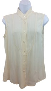 Escada Creme Silk Top