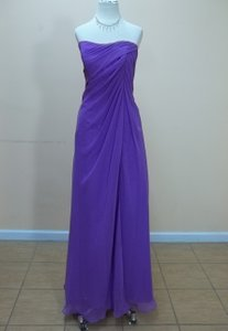 Impression Bridal Purple Chiffon 1675 Formal Bridesmaid/Mob Dress Size 12 (L)