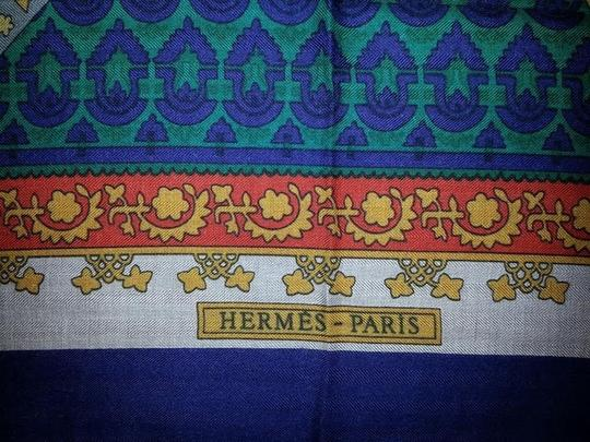 Preload https://item1.tradesy.com/images/hermes-purple-green-taupe-gold-and-orange-spectacular-paris-cashmere-silk-shawl-brins-d-or-collectio-1418315-0-0.jpg?width=440&height=440