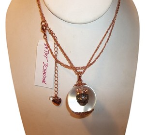 Betsey Johnson Betsey Johnson Betsey Bauble Rose Gold Skull Globe Long Pendant Necklace NWT $55