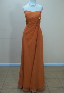Impression Bridal Cognac Chiffon 1677 Formal Bridesmaid/Mob Dress Size 12 (L)