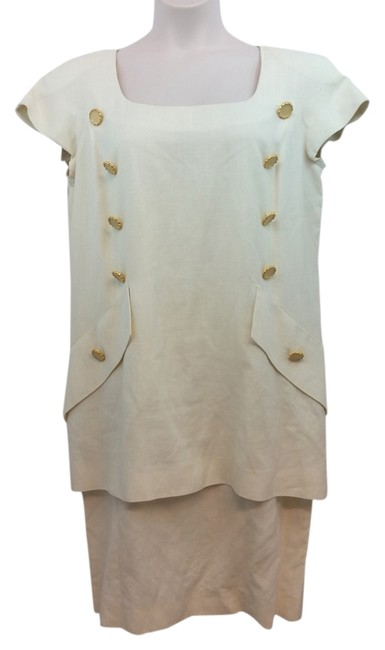 Preload https://img-static.tradesy.com/item/14183254/nina-ricci-edition-boutique-paris-short-sleeves-creme-goldtone-buttons-shift-48-mid-length-workoffic-0-1-650-650.jpg