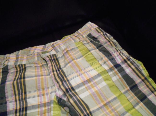 Mossimo Supply Co. Madras Plaid Preppyt Preppy Board Summer Cruise Beach Bermuda Long Pant Juniors 28 Waist School Fun Small 4 6 4 6 Size Shorts Multi
