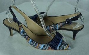 J.Crew Crew Collection Dulci Rafia Multi-Color Pumps