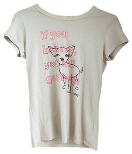 Juicy Couture T Shirt Cream pink and brown