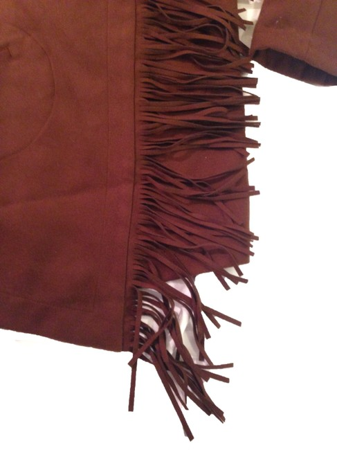 BB Dakota Spring Boho Fringe Pea Coat