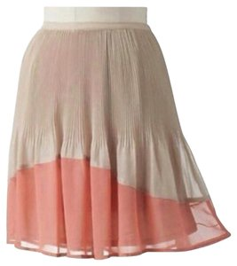 LC Lauren Conrad Mini Skirt Peach / coral, cream / tan