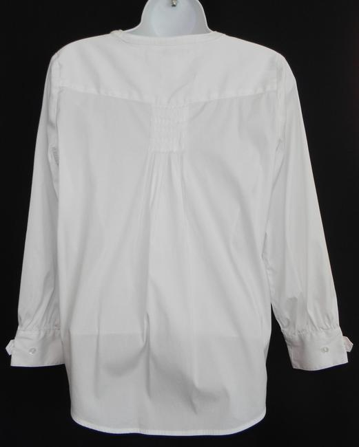 lbd Career Tucked Hidden Placket Top White