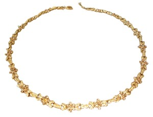Macy's yellow crystal flower necklace