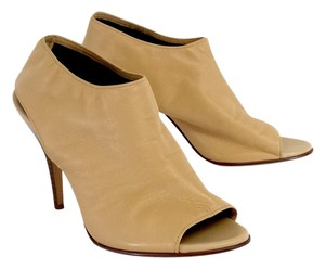 Cole Haan Tan Leather Peep Toe Shoeties Boots