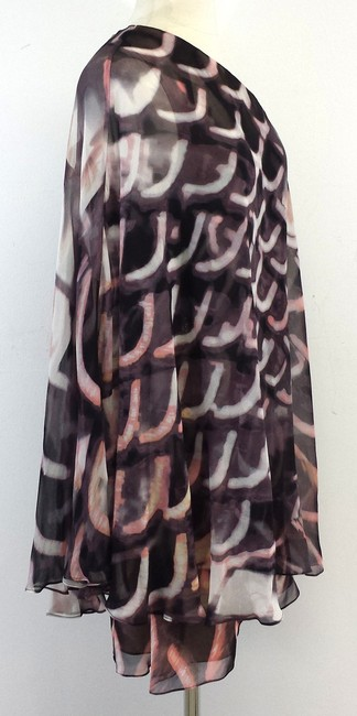 Tracy Reese short dress Purple Pink Draped One Shoulder on Tradesy
