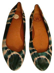 Lucky Brand Tie-dye Leather Ballet Flat Turquoise Green Flats
