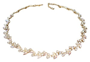 Givenchy crystal cluster necklace