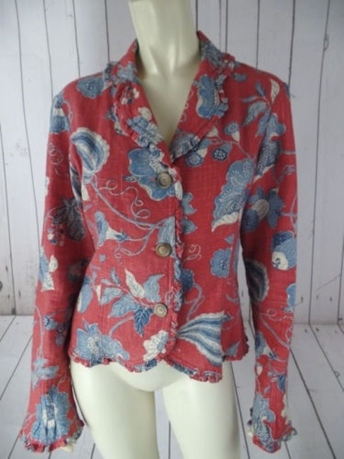 Preload https://img-static.tradesy.com/item/14185408/alexis-avery-blazer-cotton-red-blue-beige-floral-unlined-ruffle-edges-boho-0-0-650-650.jpg