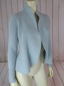 Talbots Petites P Cashmere Open Front 34 Sleeves Boho Sweater