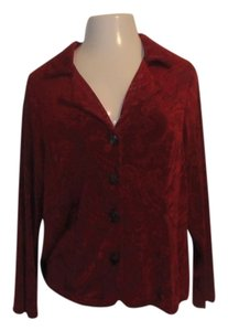 Coldwater Creek Travel Knit Size Large New With Tags Nwt Jacquard Cardigan
