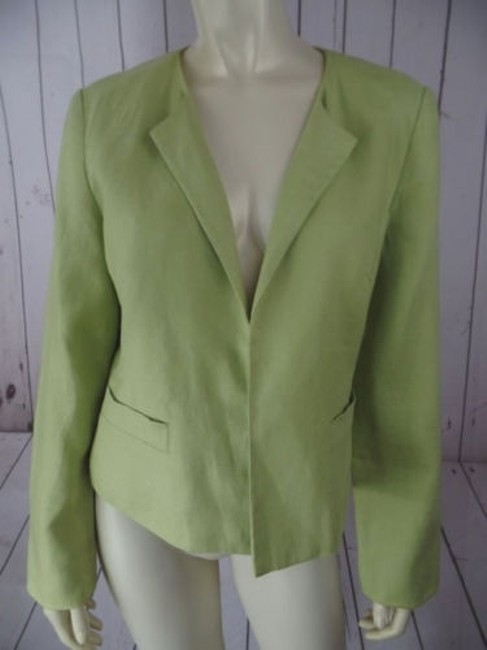 Preload https://img-static.tradesy.com/item/14185648/talbots-irish-linen-blazer-lime-open-front-slight-padded-shoulders-classy-0-0-650-650.jpg
