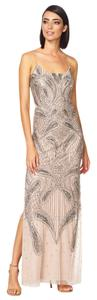 Aidan Mattox Beaded Paisley Gown Dress