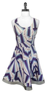 Nicole Miller short dress Artelier Print Linen Viscose on Tradesy