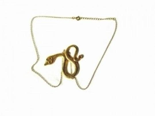 Other 18K Gold VERMEIL Serpent / Snake Charm & Chain Necklace