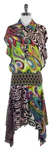 Missoni Multi Color Print Silk Dress