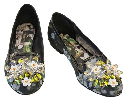 Preload https://img-static.tradesy.com/item/14187073/dolce-and-gabbana-blackmulticolor-floral-print-d-and-g-jewel-flats-size-us-6-regular-m-b-0-1-540-540.jpg