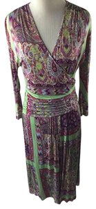 Etro short dress Multi Rayon on Tradesy
