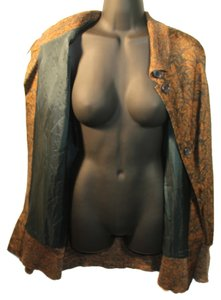 Ellen Tracy Silk Dolman Tunic Jacket Twill Knit Sweater