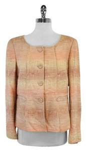 Albert Nipon Pink Tan Jacket
