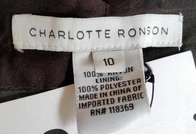 Charlotte Ronson Cropped Pleated Cuffs Pants