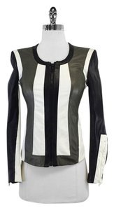 Helmut Lang Pax Color Block Leather Jacket