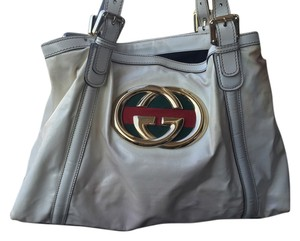 Gucci White Designer Handbags Tote