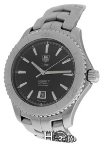 TAG Heuer Authentic Men's Tag Heuer Link Caliber 5 WJ201A Steel Date Automatic Watch