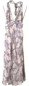Gray/White Silk Maxi Dress by Joie