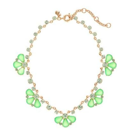 J.Crew J.Crew Glass Petals Lime Sorbet Necklace