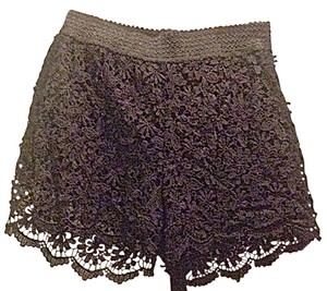 Crochet Floral Date Night Shorts Black
