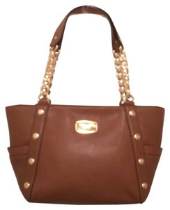 Michael Kors Leather New/nwt Satchel Tote in Brown