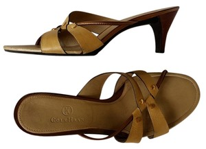 Cole Haan Leather Strappy Beige Sandals