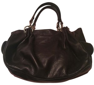 Juicy Couture vintage Pebbled Leather Satchel in Chocolate Brown