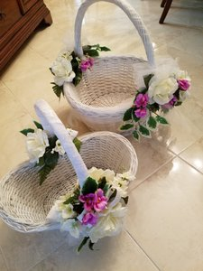 Custom Decorated Wedding Baskets