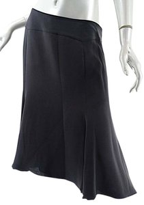 Giorgio Armani Silk Borgo 21 Flounced Skirt Black - item med img