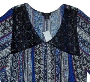 DEB Plus Size 1x Bat Wing Top Multi