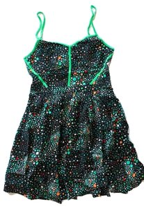 Urban Oufitters (Cooperative) short dress Black Multi Black Green Multicolored Shape on Tradesy