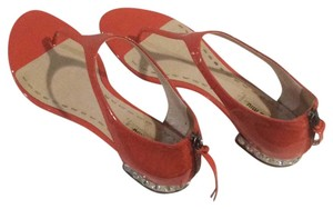 Miu Miu Salmon pattened leather with crystals Sandals