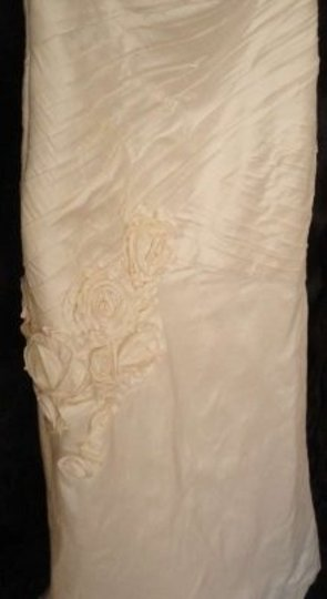 Mori Lee Natural Silk Shantung Style # 1210 Formal Wedding Dress Size 10 (M)