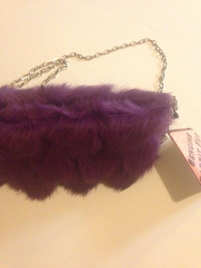 Bearpaw Purple Clutch Genuine Leather Cross Body Bag