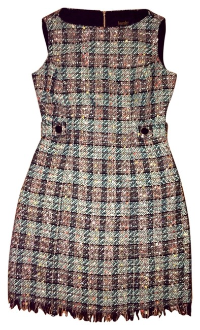 Laundry by Shelli Segal Tweed Metallic Dress