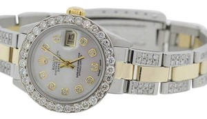 Rolex LADIES ROLEX DATEJUST 4.2CT DIAMOND WATCH WITH ROLEX BOX & APPRAISAL