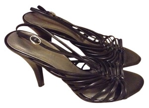 Nine West Slingback Leather Black Sandals
